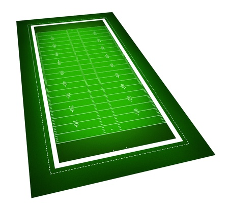 sideline: illustration of American football field. Stock Photo