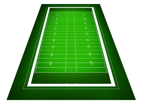 illustration of American football field. illustration