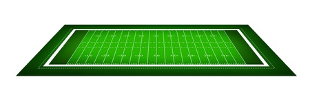 illustration of American football field. Stock Illustration - 9850312