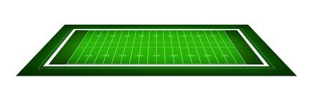 football play: illustrazione del campo di football americano.