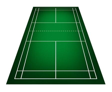 racket stadium: Illustration of badminton court. Stock Photo