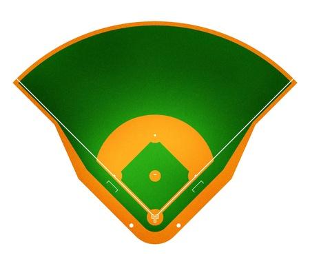 pelotas de baseball: Ilustraci�n del campo de b�isbol.