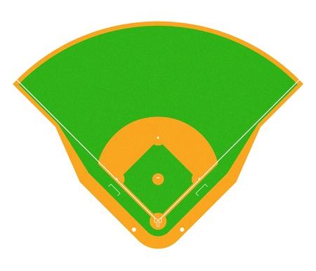 campo de beisbol: Ilustraci�n del campo de b�isbol.