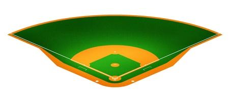 Illustration of Baseball field. illustration