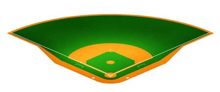 diamond plate: Illustration of Baseball field.