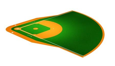 Illustration of Baseball field. Stock Illustration - 9850310