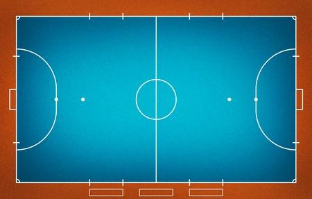 indoor soccer: Ilustraci�n del campo de Futsal (f�tbol Indoor).