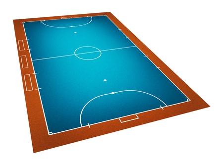 Illustration of Futsal ( Indoor football ) field. Stock Illustration - 9850334