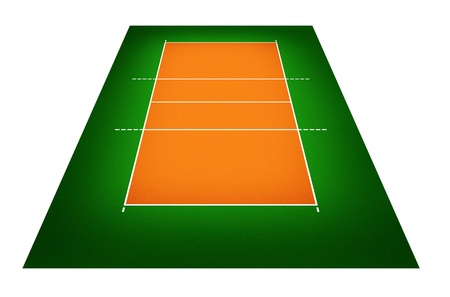 volleyball net: illustration of volleyball court. Stock Photo