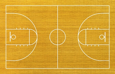 hoops: basketball court on wood background.