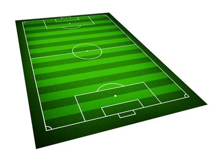 Illustration of a soccer field illustration
