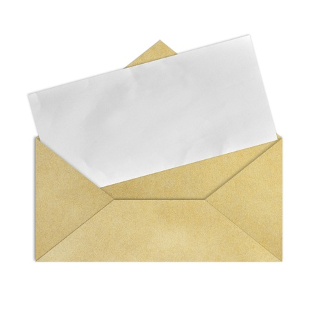 old envelope: Brown Vintage Envelope