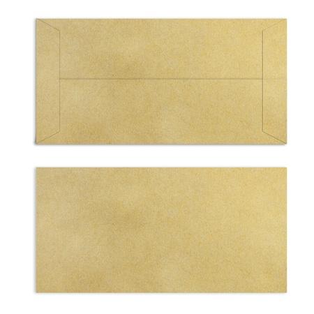 vintage envelope: Marr?n Vintage envolvente Foto de archivo