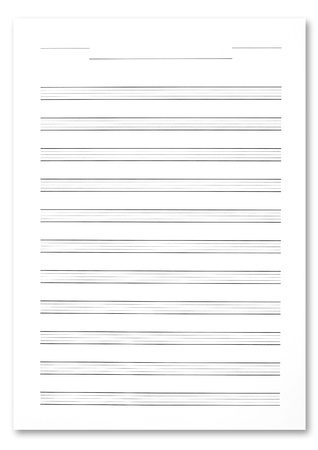 orchestration: Music score paper Stock Photo