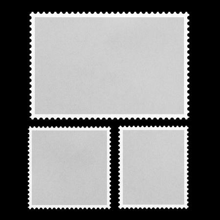 timbre postal: Sello de correos en blanco enmarcado  Foto de archivo