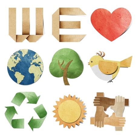 recordar: nos encanta artesanal de papel reciclado de etiqueta