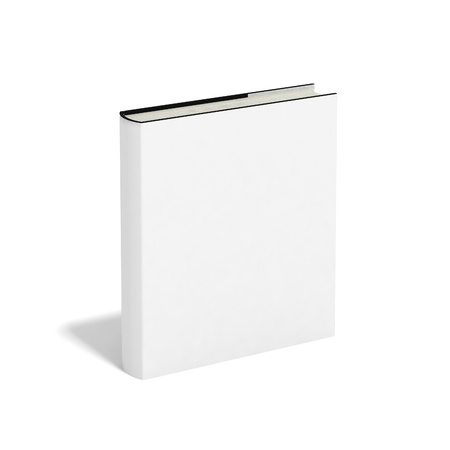 Blank book with white cover on white background. Stock Photo - 9850694