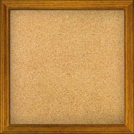 pin board: Empty office cork notice board isolated with wood frame