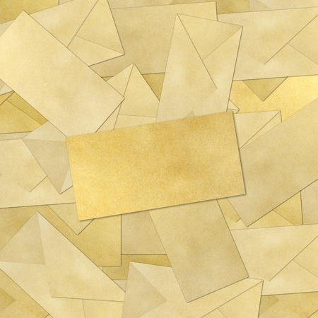 blank Envelope on Brown Vintage Envelope background . Stock Photo - 9971690