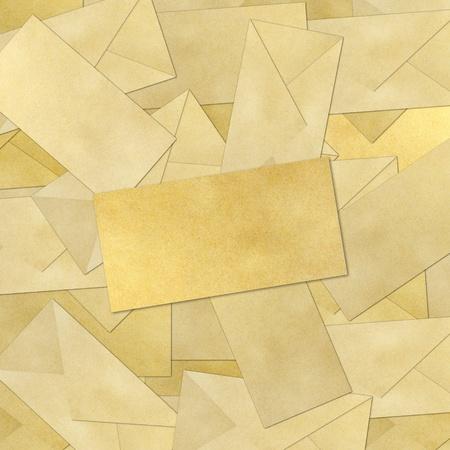blank Envelope on Brown Vintage Envelope background . Stock Photo - 9971690