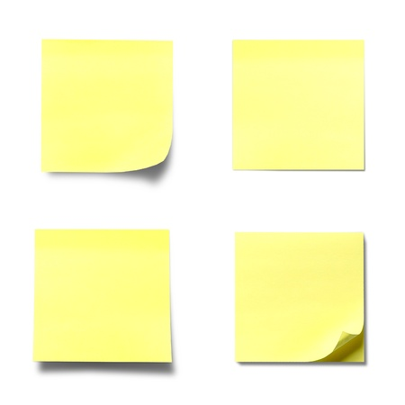 stick note: memo stick paper isolated on white background Stock Photo