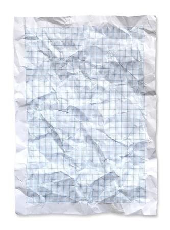 crinkles: Wrinkled Blue graph paper.