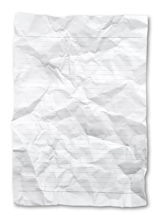 Wrinkled Note paper. photo