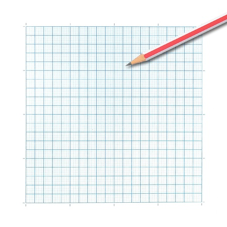 colored pencil on graph paper background photo