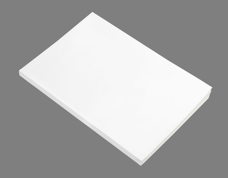 paperback: Blank book with white cover on white background.