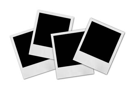 instant: Blank photo isolated on white