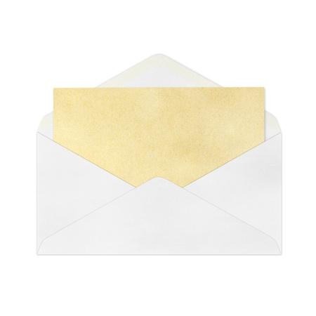 vintage envelope: Sobre Vintage aislado Foto de archivo