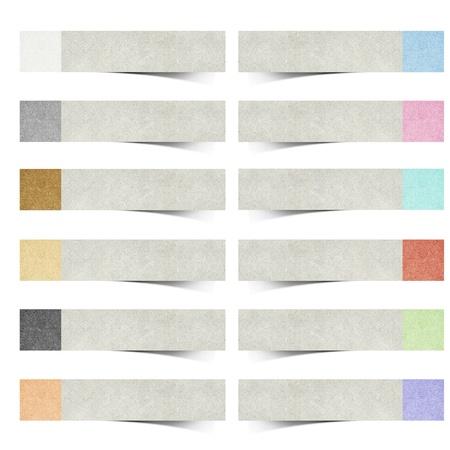 papel reciclado: color pad reciclado papel stick sobre fondo blanco Foto de archivo