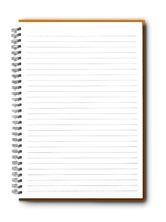 Blank notebook Stock Photo - 10090056