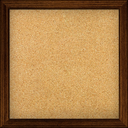 corkboard: Empty office cork notice board isolated with wood frame