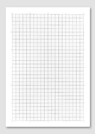 그리드: 흰색 배경에 그래프 용지. 스톡 사진