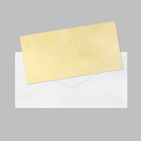white Envelope and brown paper photo