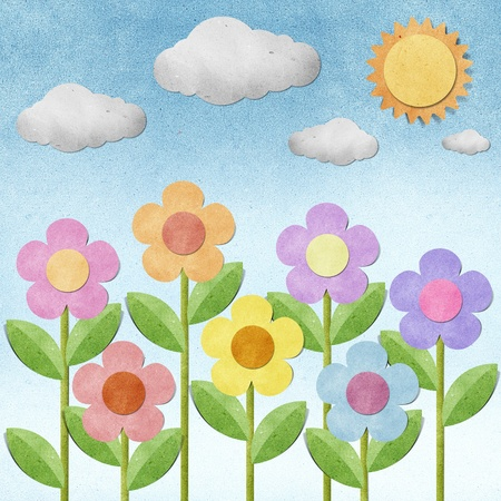 flower recycled paper  background Stock Photo - 10179229