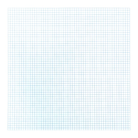 Blue graph paper on white background. photo