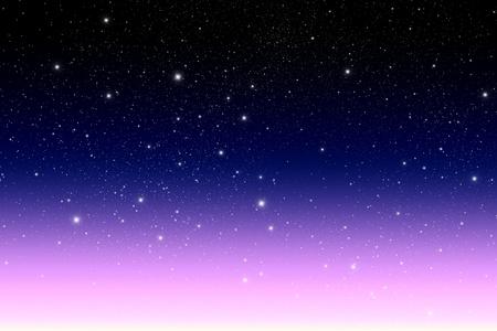 twilight: star in The twilight sky. Stock Photo