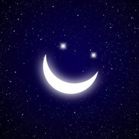 Smile star in The dark Galaxy. photo