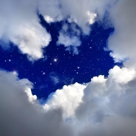 trek: star in The night sky.