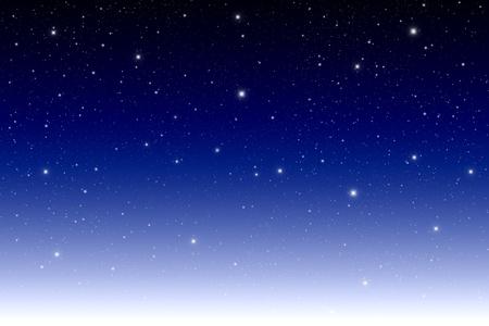 star in The twilight sky. photo