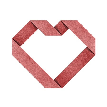 heart origami recycled paper craft Stock Photo - 10338080