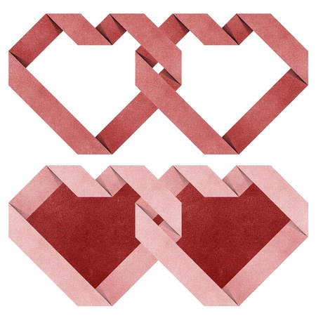 heart origami recycled paper craft  photo