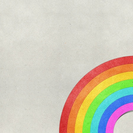 rainbow recycled paper craft background photo