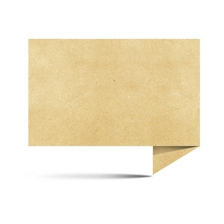 papel reciclado: Gran tama�o papel hablar origami reciclado papercraft sobre fondo blanco Foto de archivo