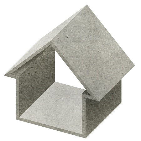 House 3D recycled papercraft on white background Stock Photo - 10470078