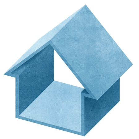 House 3D recycled papercraft on white background Stock Photo - 10470080