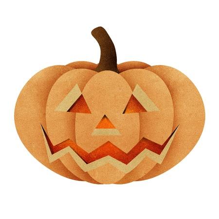 Halloween pumpkin recycled papercraft background photo