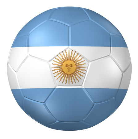 argentina flag: 3d rendering of a soccer ball.